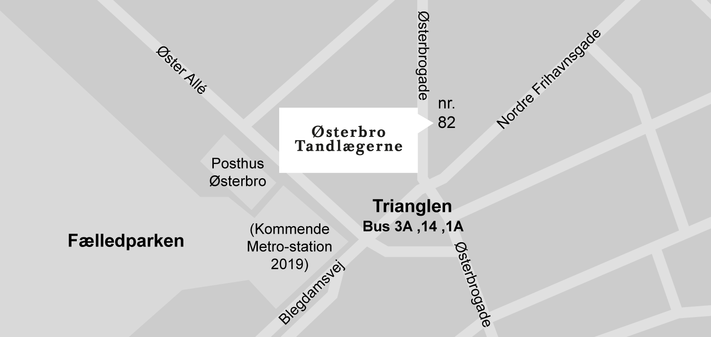 Oesterbro-Tandlaegerne-Kort